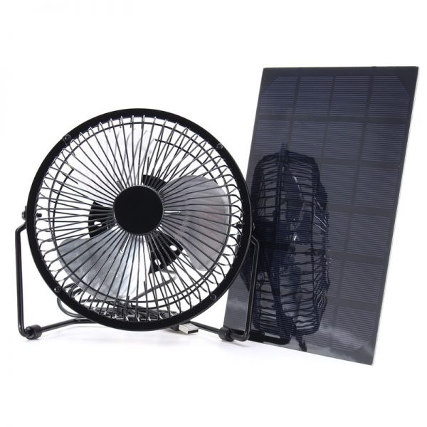 Solar Powered Fan Portable Cooling Ventilation 1