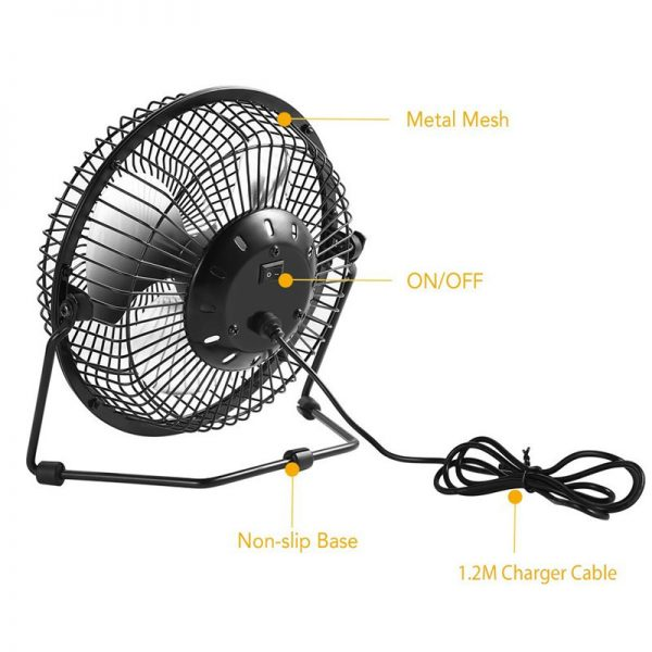 Solar Powered Fan Portable Cooling Ventilation 2