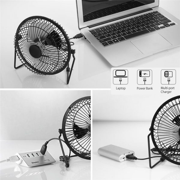 Solar Powered Fan Portable Cooling Ventilation 4
