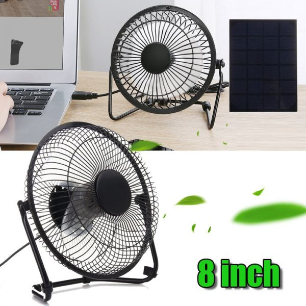 Solar Powered Fan Portable Cooling Ventilation