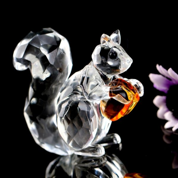 Squirrel Ornament Crystal Paperweight 1
