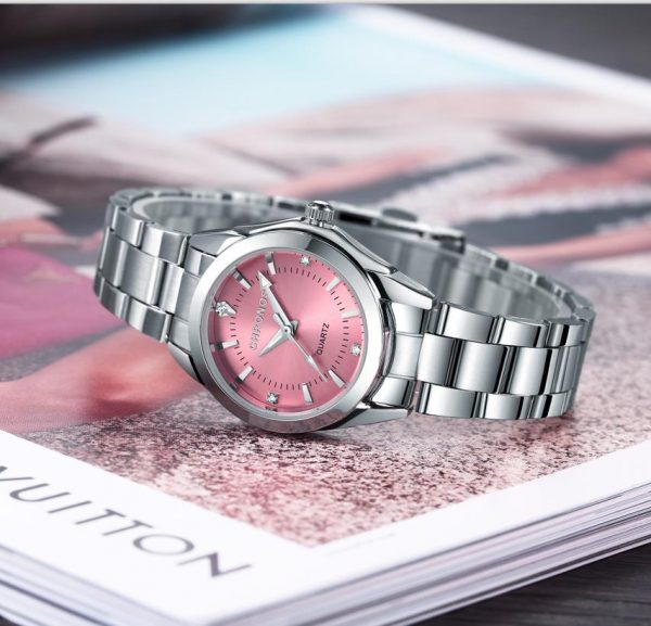 Stainless Steel Watch Ladies Timepiece