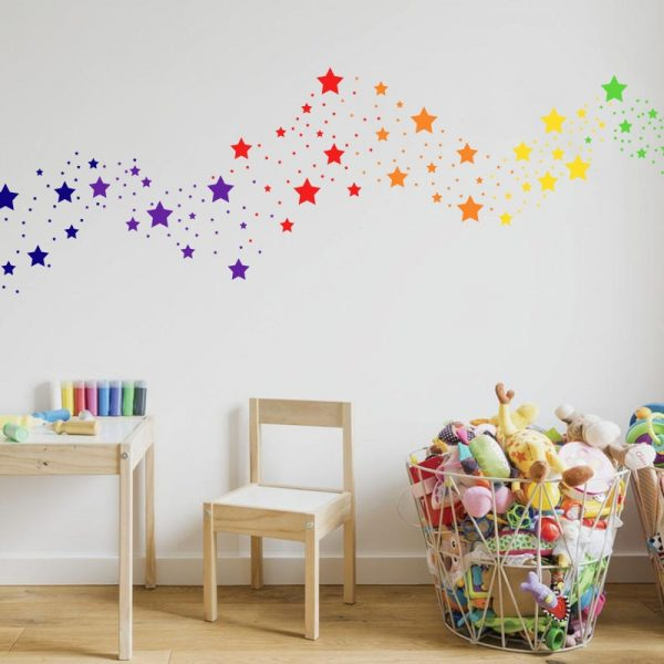 Star Wall Stickers Home Decoration 42 Pcs 1
