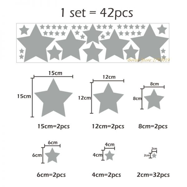 Star Wall Stickers Home Decoration 42 Pcs 4