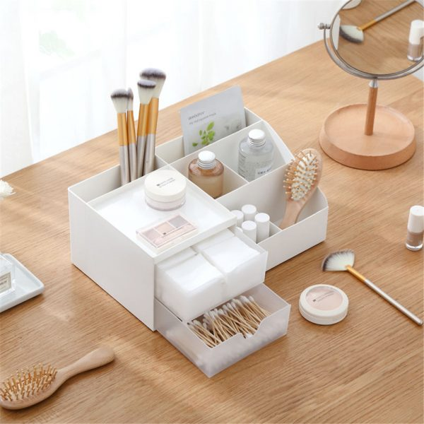 Storage Box 2 Layers Desk Office Organizer Storage Holder Concise and Clean 4