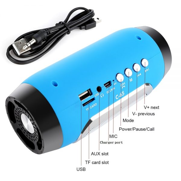 Subwoofer Portable Bluetooth Speakers 4