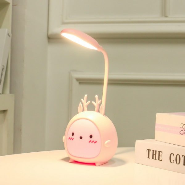 Table Lamp USB Rechargeable Desk Lamp 3 speed Dimming Cute Night Light 3