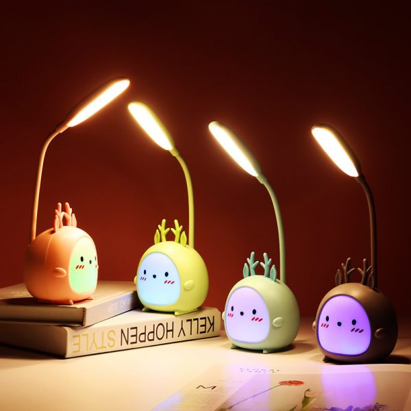 Table Lamp USB Rechargeable Desk Lamp 3 speed Dimming Cute Night Light 4