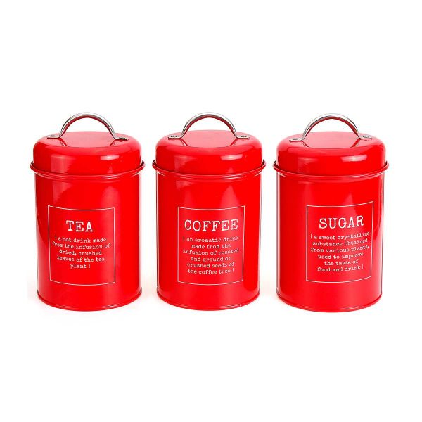 Tea Coffee and Sugar Canisters Set 1