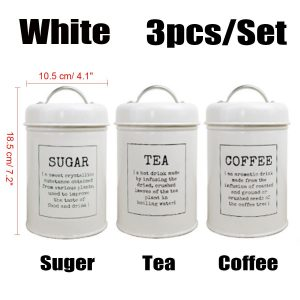 Tea Coffee and Sugar Canisters Set