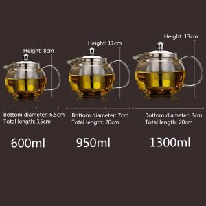 Tea Kettle with Infuser Glass Pot