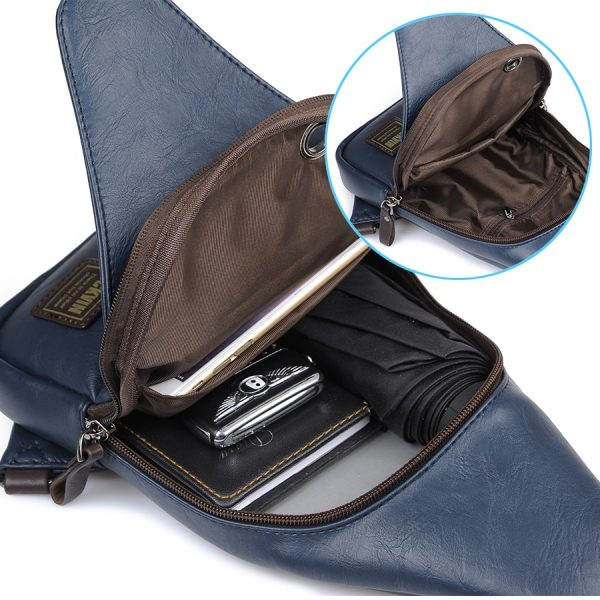Theftproof Leather Chest Man Bag 3