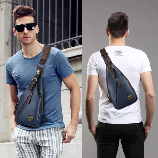 Theftproof Leather Chest Man Bag 4