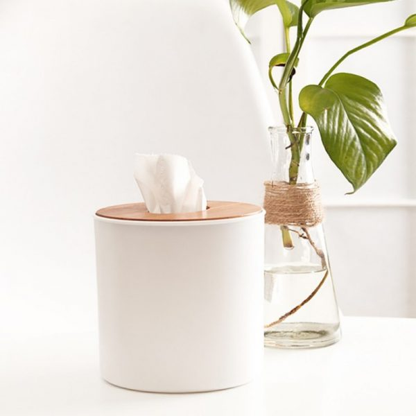 Tissue Box With Cellphone Holder 1
