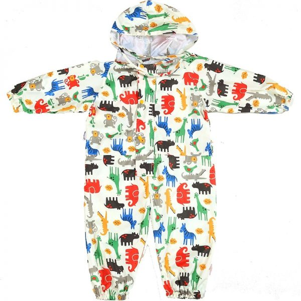 Toddler Raincoat Hooded Overalls 3