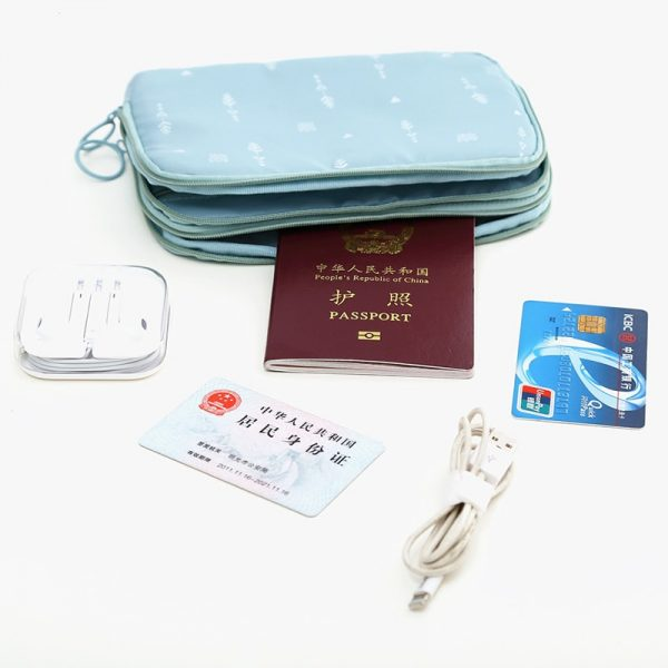 Travel Document Organizer with Card Holders 2