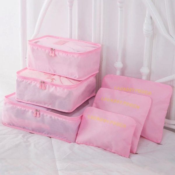 Travel Packing Cubes Luggage Organizer (6 pieces)