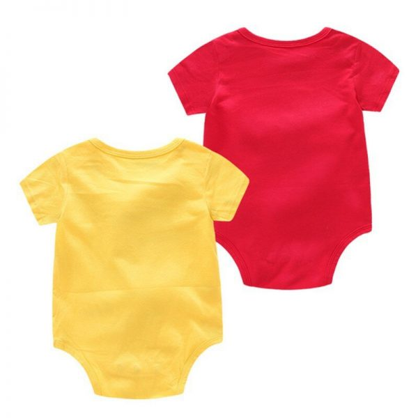 Twin Onesies Mustard and Ketchup Costume