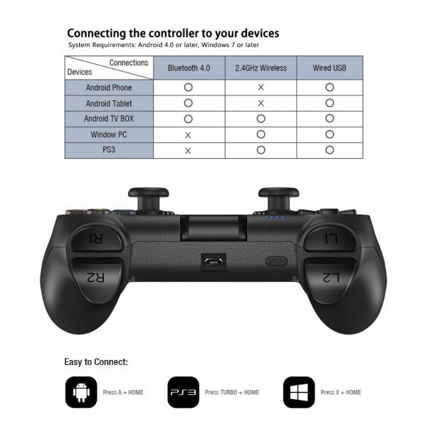 Universal Bluetooth Game Controller 3