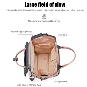 [Upgrade Version] LEQUEEN Large Capacity Outdoor Trip Travel Diaper Storage with USB Charging Port Mummy Bag Backpack