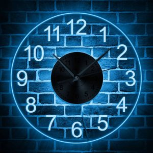 Wall Clock with Light and Remote Control