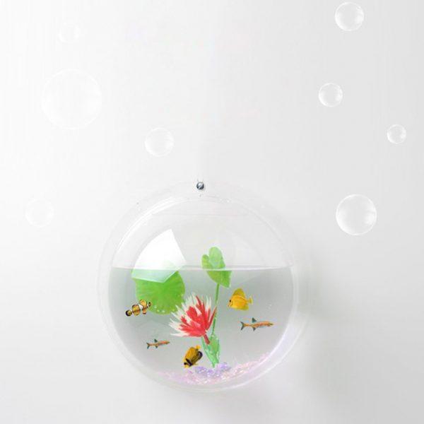 Wall Fish Bowl Acrylic Home Decor 3