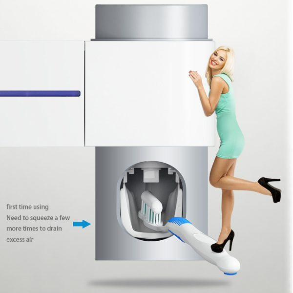 Wall Mounted Toothbrush Holder with UV Light 3