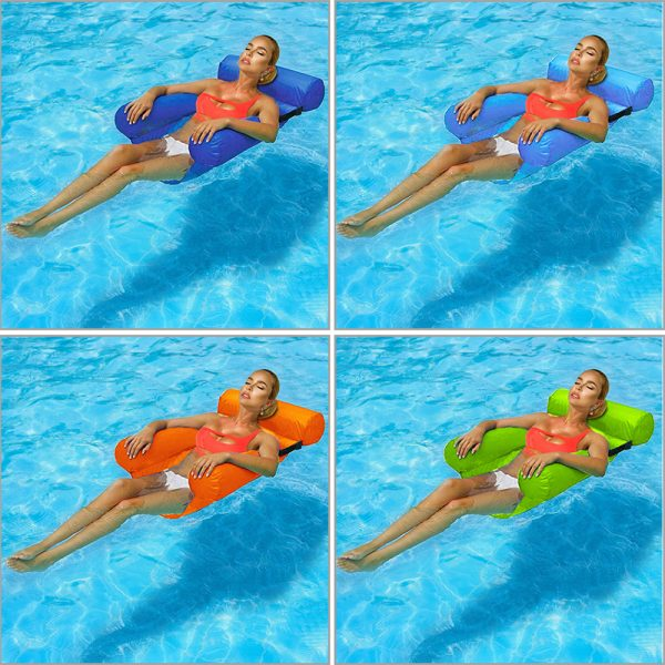 Water Hammock Inflatable Foldable Floating Row Backrest Air Mattresses Bed Popular Products in 2021 1