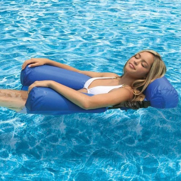 Water Hammock Inflatable Foldable Floating Row Backrest Air Mattresses Bed Popular Products in 2021 2