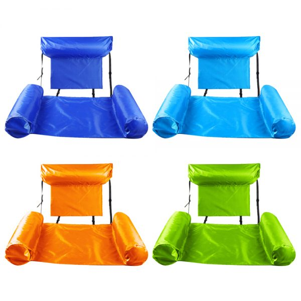Water Hammock Inflatable Foldable Floating Row Backrest Air Mattresses Bed Popular Products in 2021 4