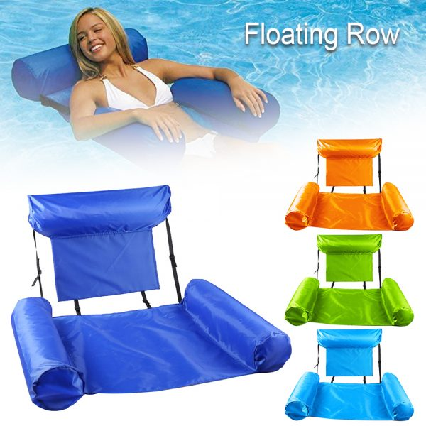 Water Hammock Inflatable Foldable Floating Row Backrest Air Mattresses Bed Popular Products in 2021
