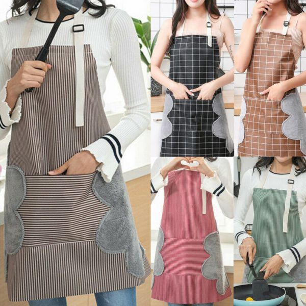 Waterproof Apron Wipeable Cooking Apron 1
