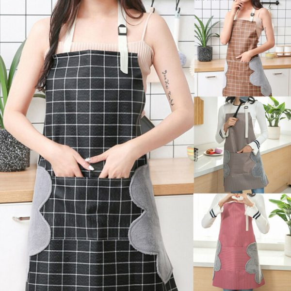 Waterproof Apron Wipeable Cooking Apron 2