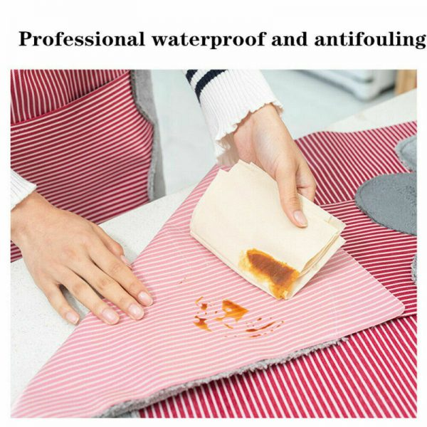 Waterproof Apron Wipeable Cooking Apron 4