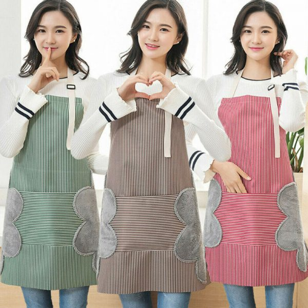 Waterproof Apron Wipeable Cooking Apron