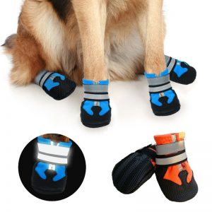 Waterproof Dog Boots Reflective Shoes