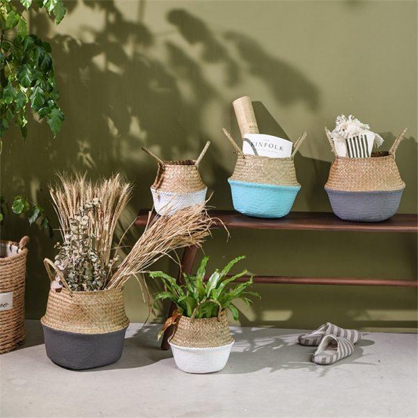 Wicker Basket Handmade Bamboo Storage