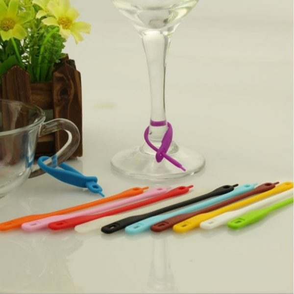 Wine Glass Marker Silicone Tags (12pcs)