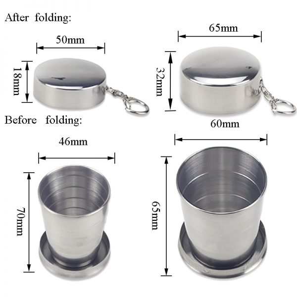 Wine Tumbler Telescopic Stainless Cup 3