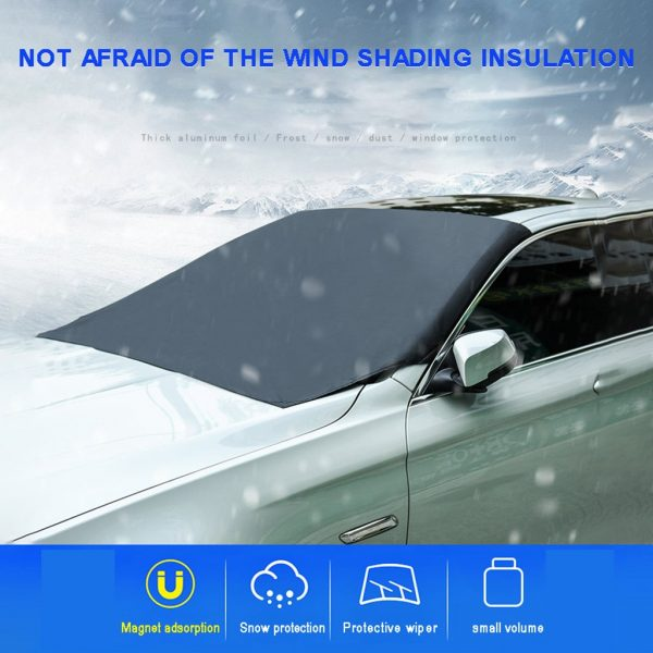 Winter Windshield Cover Magnetic Sunshade 2