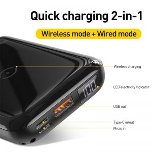 Wireless Charging Power Bank Device