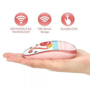 Wireless Computer Mouse Noiseless Button
