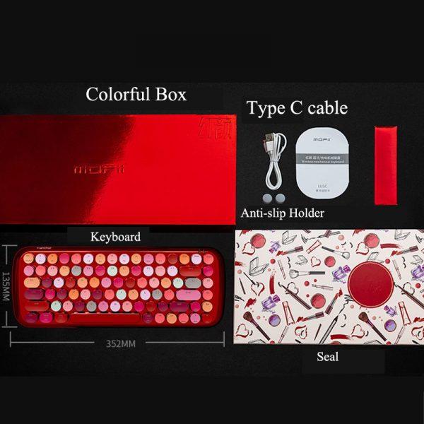 Wireless Keyboard MOFI Bluetooth 3.0 4.0 Mini Lipstick Girls Cute Tablet Phone Universal 2