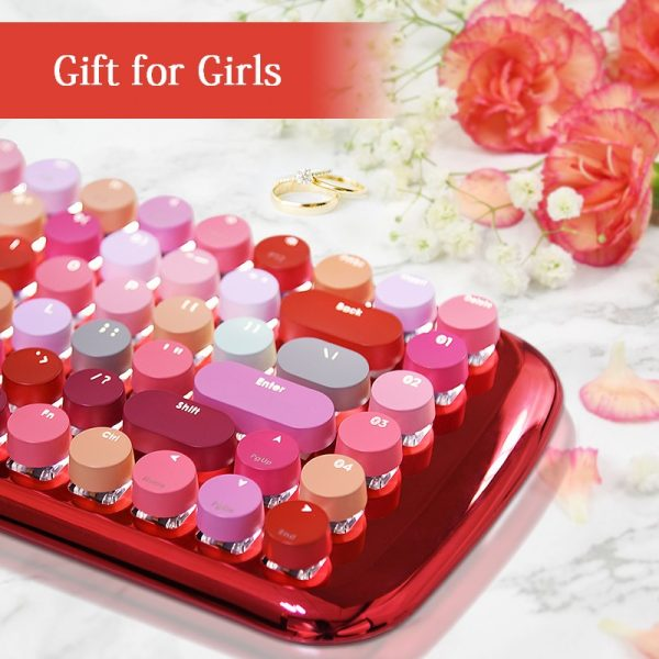 Wireless Keyboard MOFI Bluetooth 3.0 4.0 Mini Lipstick Girls Cute Tablet Phone Universal 4