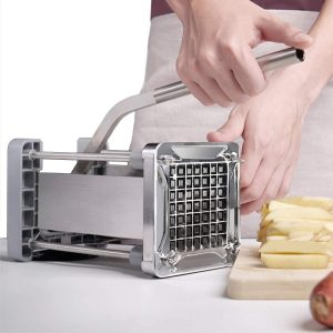 Wonderful Stainless Steel Homemade Potato Chipper Cutter with 1/2-Inch Blade