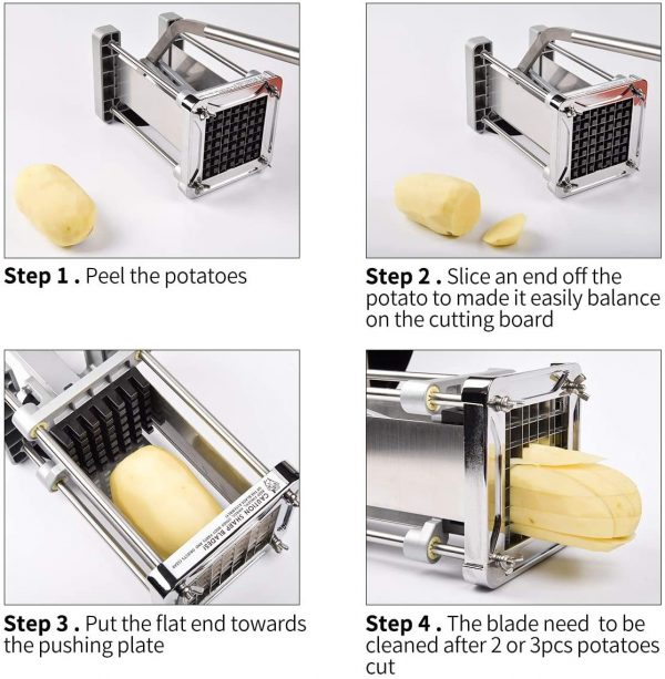 Wonderful Stainless Steel Homemade Potato Chipper Cutter with 12 Inch Blade 4