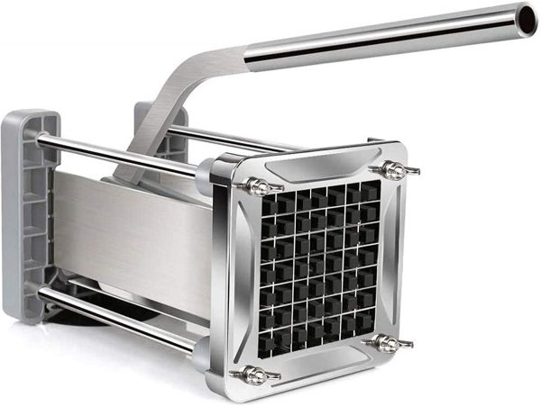 Wonderful Stainless Steel Homemade Potato Chipper Cutter with 12 Inch Blade 7