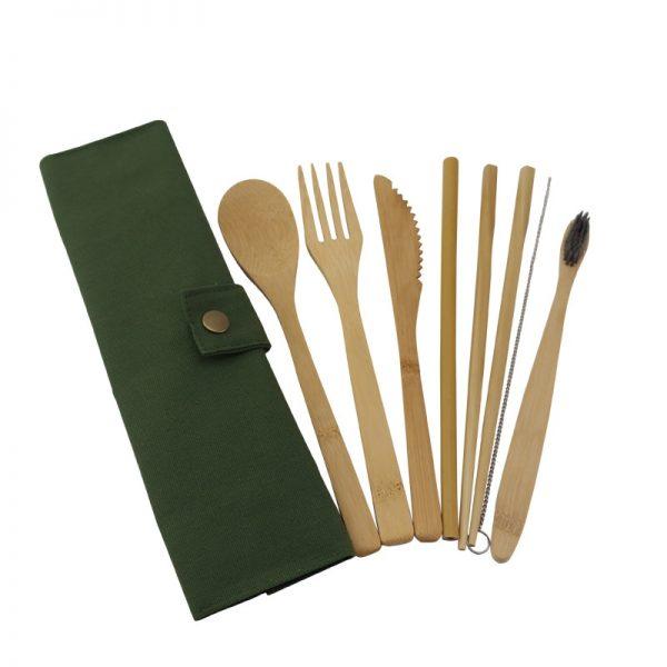 Wooden Cutlery Set Bamboo Tableware 3