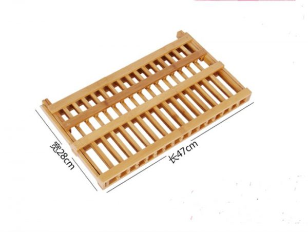 Wooden Dish Rack Foldable Plate Drainer 3