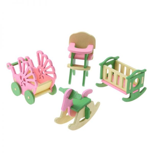 Wooden Dolls House Furniture Toys 1